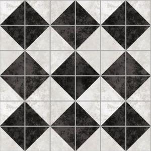 Самоклейка PATIFIX Мрамор-плитка белый/черный
