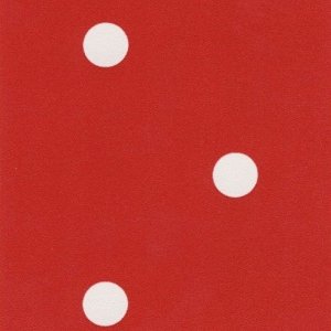 Самоклейка PATIFIX Горошек белый на красном