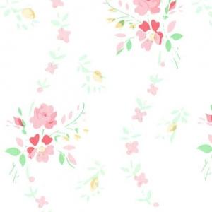 Самоклейка PATIFIX Цветочная волна розовая