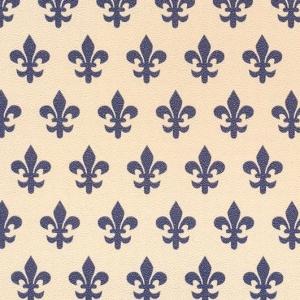 Самоклейка PATIFIX Флорентийская лилия, синяя на беж.