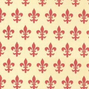 Самоклейка PATIFIX Флорентийская лилия, красная на беж.