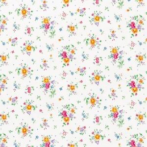 Самоклейка D-C-FIX мал.цветы на бел.фоне