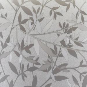 PATIFIX 61-2190 «Бесцветная Листья» Самоклеющаяся пленка витражная на стекло прозрачная