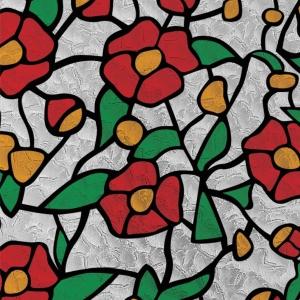 PATIFIX 11-2200 «Цветы Красные» Самоклейка витражная на стекло с рисунком