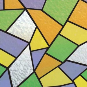 PATIFIX 11-2215 «Цветные Осколки» Самоклеющаяся пленка витражная на стекло с рисунком
